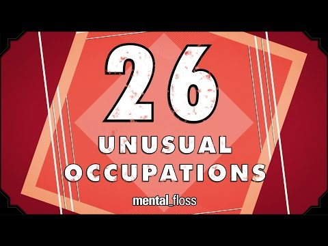 26 Unusual Occupations - mental_floss on YouTube (Ep.215)