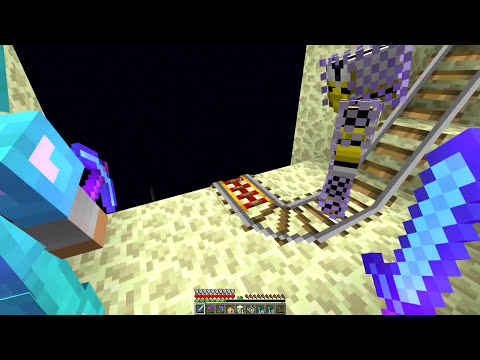 CrewCraft Survival: Episode 44 - Train System At The Ender Farm!