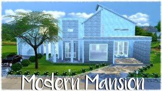 The Sims 4: Speed Build //MODERN MANSION ( Part One ) + CC Links