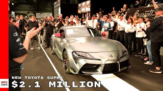 First 2020 Toyota Supra Sold For $2.1 Million at Barrett Jackson