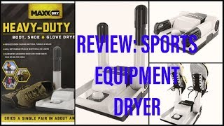 Review:  Sports Equipment Dryer