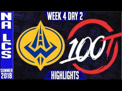GGS vs 100 HIGHLIGHTS   NA LCS Summer 2018 Week 4 Day 5   Golden Guardians vs 100 Thieves