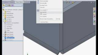 SOLIDWORKS SHEETMETAL TUTORIALS