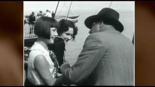 Truus van Aalten filming on location, 1929!