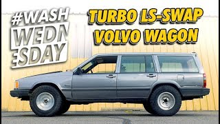 Joshs TURBO LS-Swap Lifted Volvo Wagon | #WASHWEDNESDAY