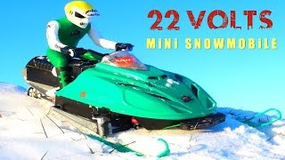 RC ADVENTURES - 6S Lipo for my ARCTiC CAT Snowmobile! 22-Volts, BL T8 Motor, Art Attack