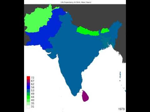 South Asia - Life Expectancy At Birth, Male - Timelapse