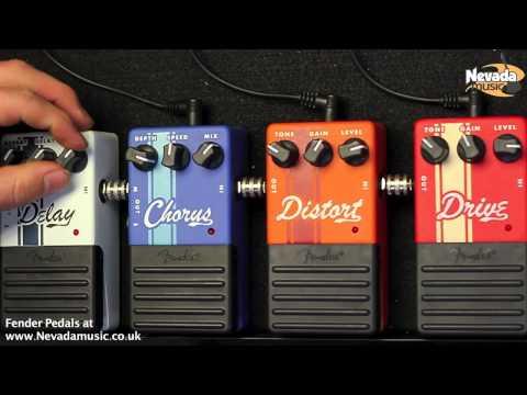 Fender Guitar Pedals - Delay, Chorus ,Distortion and Drive - Nevada Music UK