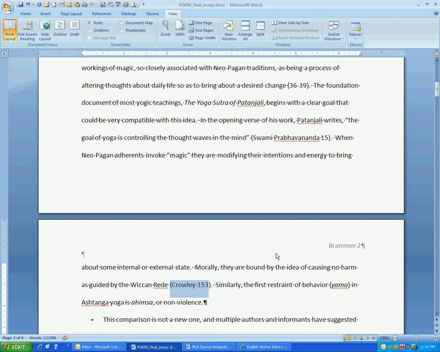 Citation in writing