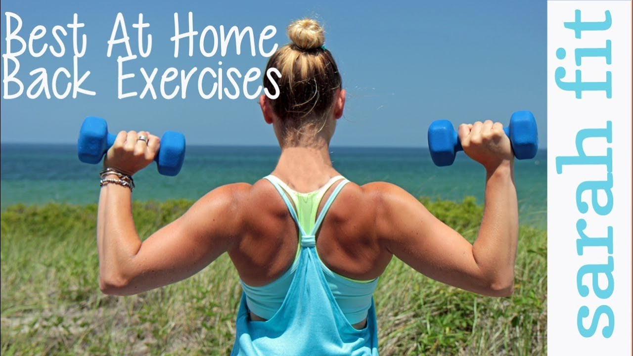 Top at home back exercises for women youtube