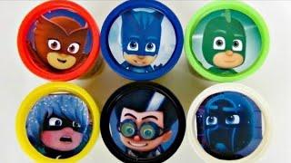 PJ MASKS with Owlette, Catboy, Gekko, Romeo Playdoh Toy Surprises