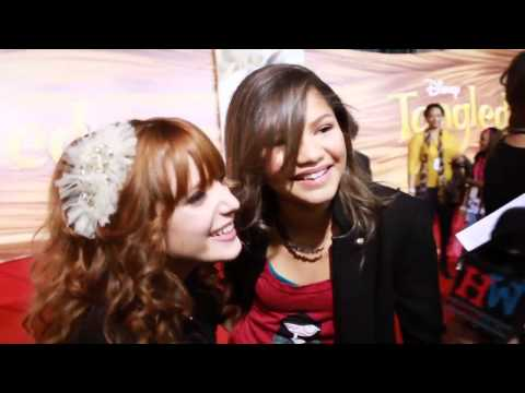BellaThorne and Zendaya Coleman Interview - Red Carpet at Tangled Premiere