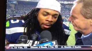 Richard Sherman NFC Championship post game interview with Ed Werder (Original)
