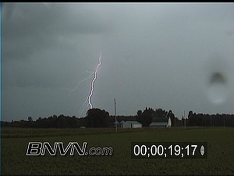 6/12/2000 Lightning stock video