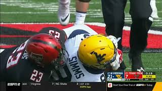 2018 - West Virginia Mountaineers at Texas Tech Red Raiders in 40 Minutes