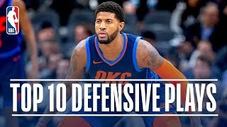 Paul George's Top 10 Defensive Plays of the Regular Season