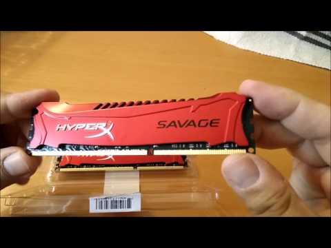 kingston hyperx savage ddr3 kit 16gb 2400 unboxing