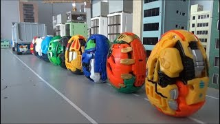 헬로카봇 쿵 10대 알 공룡 로봇 덤프트럭 장난감 놀이 Hello Carbot 10 Egg Dinosaur Robots Dumptruck Toys Play