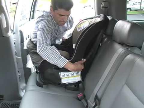 car seat installation evenflo titan 5 front facing youtube. Black Bedroom Furniture Sets. Home Design Ideas