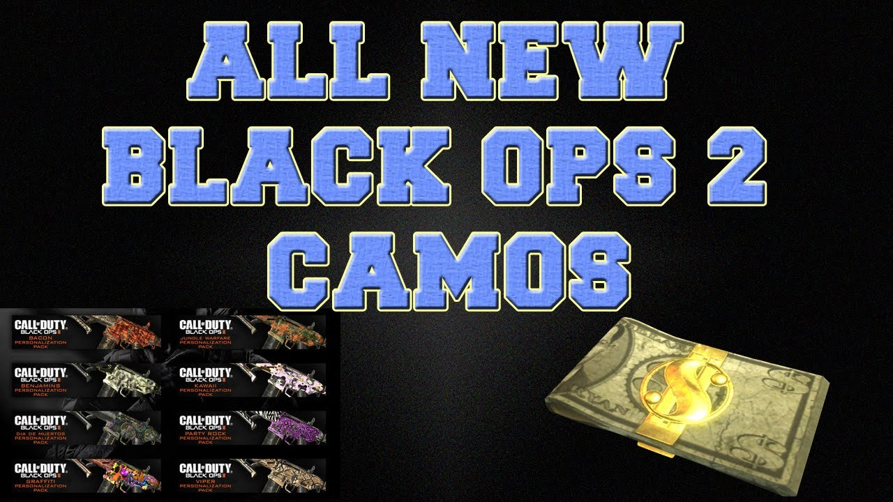 Pack a Punch Camo Black Ops 2 Black Ops 2 // All New Camos