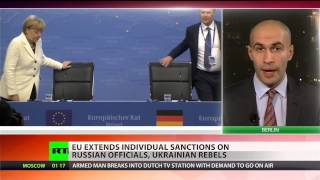 video The European Union is extending the life of sanctions targeting Russian officials and anti-government militants in Eastern Ukraine. Intended to punish leading figures believed to be playing...