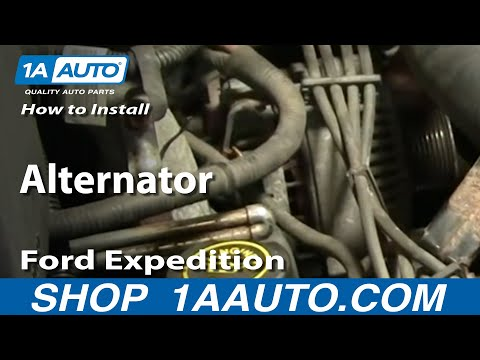 How To Install Replace Alternator Ford F-150 Expedition Lincoln Navigator 97-03 1AAuto.com