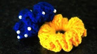 Download How to make Woolen Flower | Designer Hair Bands by SrujanaTV 3Gp Mp4