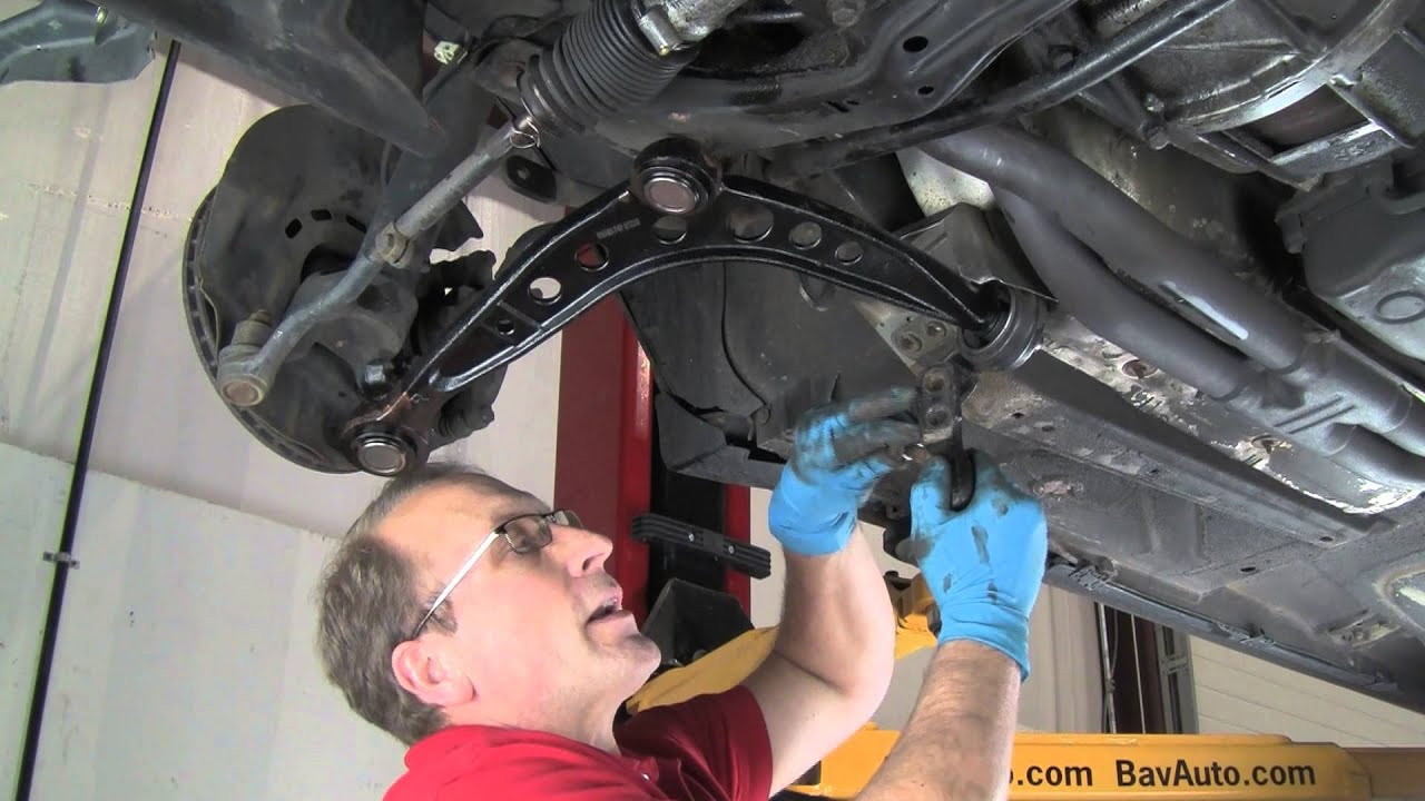 part 2  replacing control arms in a bmw 3 series or mini