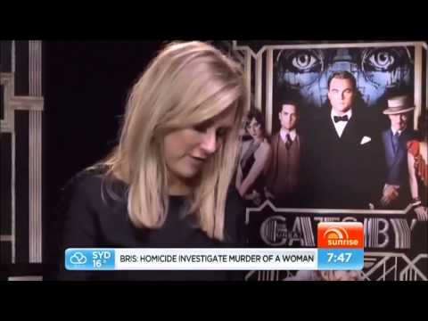 Carey Mulligan and Tobey Maguire Gatsby Interview(CANT STOP LAUGHING)(HQ)