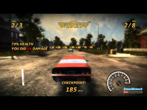 Flatout 3 : Chaos And Destruction - Gameplay (HD) Detroit Suburb