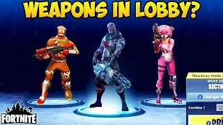HOLDING GUNS IN LOBBY? - Fortnite Funny Fails and WTF Moments! #148 (Daily Moments)