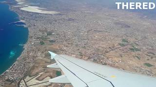 NEW CYPRUS AIRWAYS FLIGHT CY001 | Great view of the city and airport