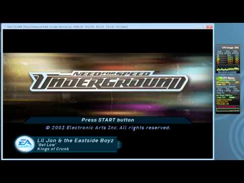 PCSX2 1.0.0 - R5350 - Test - Need for Speed Underground - Audio Lag & FPS Drop?