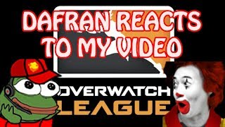DAFRAN REACTS TO AND WATCHES MY VIDEO!