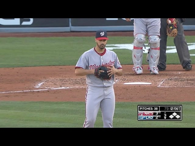 WSH@LAD: Gonzalez allows three runs over six-plus