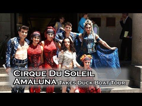 Cirque Du Soleil Amaluna Performers Take Boston Duck Boat Tour