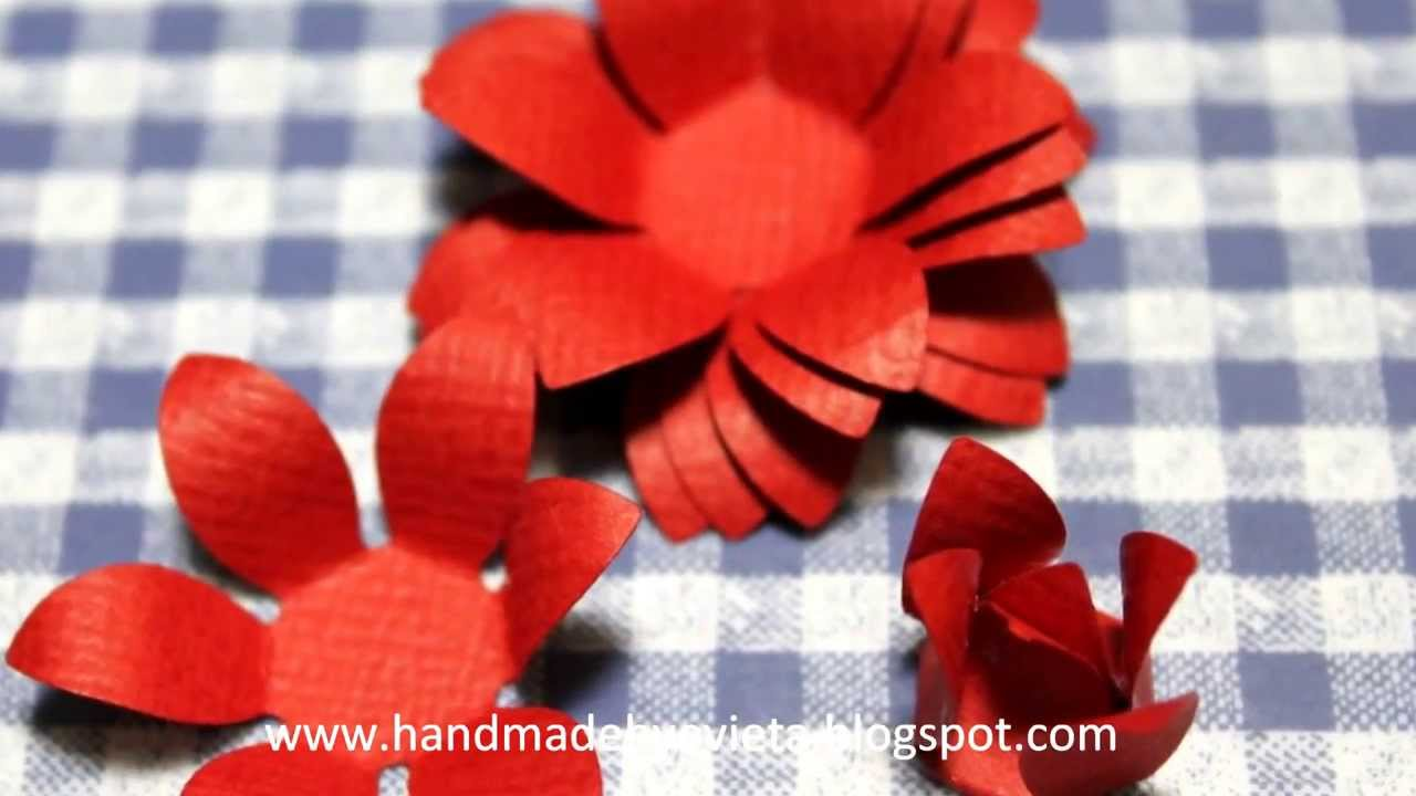 how to make handmade flower with paper shapers youtube