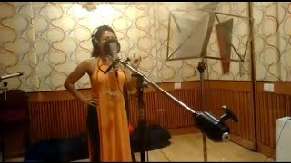 Aankh Marey Making Audio At Recording Studio Neha Kakkar