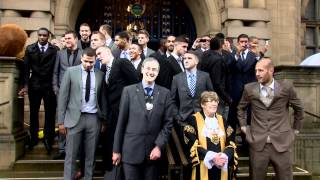 Sheffield Wednesday Civic Reception at City Hall 9th May 2012 after promotion to Championship