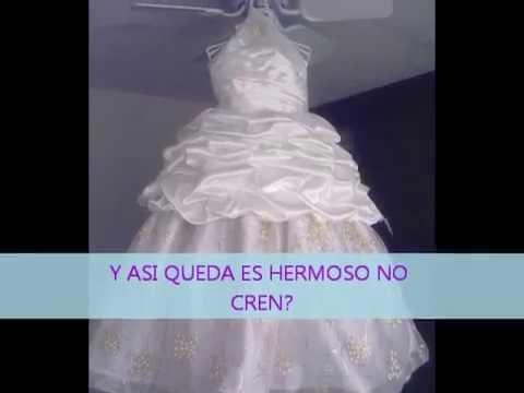 Vestido de primera comuni n 2 piezas youtube - Como poner el traje de comunion en casa ...
