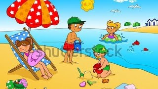 Beach scence by Ahmed karem #preschool #stem #homeschooling