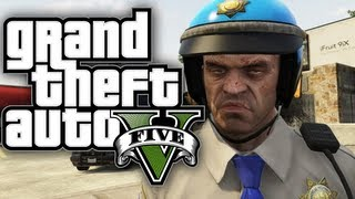 GTA 5 - How to be a COP! (Funny Moments In GTA V) Policemen Free Roam Fun Stuff Gameplay