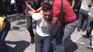 Operasyonlara Tepki Gösterenlere Polis Müdahalesi