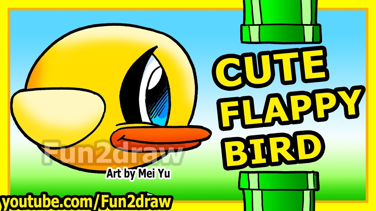 Cute Lipstick Drawing Cute Flappy Bird How to Draw