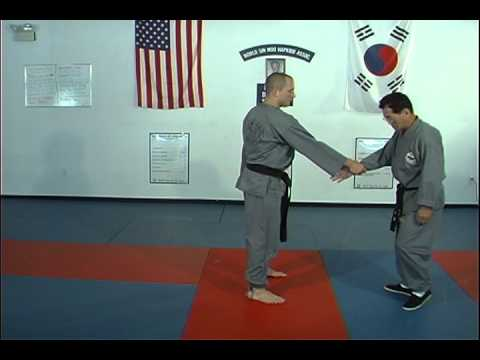Hapkido Cross Hand Wrist Grab Techniques 5 thru 8 by Ji Han Jae