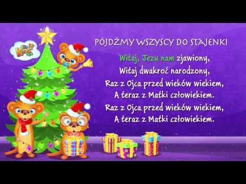 Polskie Kolędy - Pójdźmy Wszyscy Do Stajenki + Tekst (karaoke)