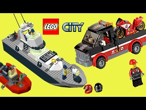 Lego City Police Chase, Shark Attack, Police Patrol Boat, Deep Sea Submarine, Helicopter, Truck,
