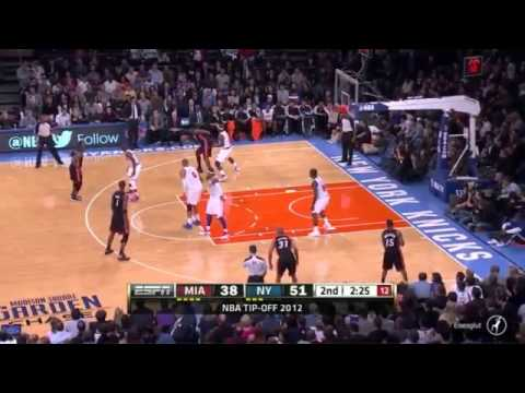 LeBron James 23 Points Heat vs Knicks Highlights 11_2_12