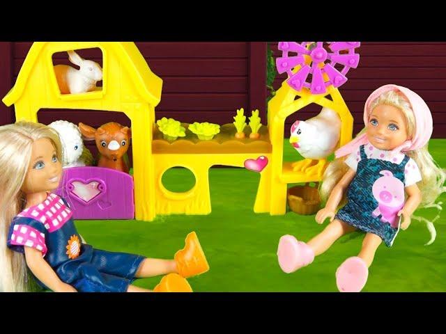 Rodzinka Barbie - U cioci na farmie. Bajka dla dzieci po polsku. The Sims 4. Odc. 71