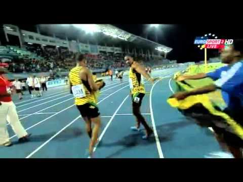 Jamaica Clock 1:18:63 Wr 4 X 200m Relay Final Iaaf World Relays 2014 video